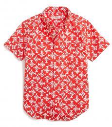 J.Crew Little Boys Red Fish Print Shirt