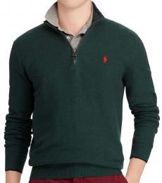 Pine Half-Zip Cotton Pullover Sweater