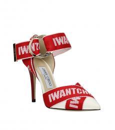 Red Front Logo Heels