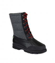 Ralph Lauren Black Grey Quinlyn Boots