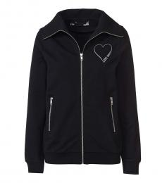 Love Moschino Black Logo Zipper Jacket