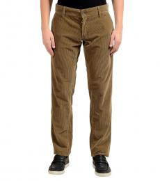 Dolce & Gabbana Brown Corduroy Casual Pants