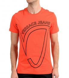Versace Jeans Orange Graphic Print T-Shirt