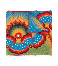Valentino Garavani Multi color Volcano Print Scarf