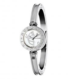 Silver Butterfly Dial Watch