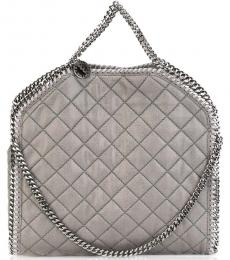 Stella McCartney Grey Falabella Quilted Large Tote