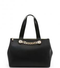 Black Chain Large Satchel