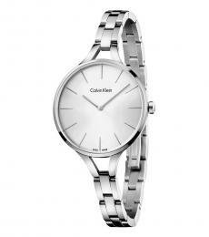 Calvin Klein Silver Graphic Classic Time Piece