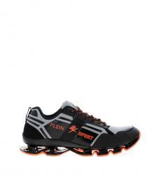 Philipp Plein Orange Sporty Iconic Sneakers