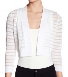 Calvin Klein White Shadow Stripe Shrug