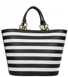 Black Stripes Medium Tote
