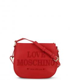 Love Moschino Red Made With Love Medium Crossbody