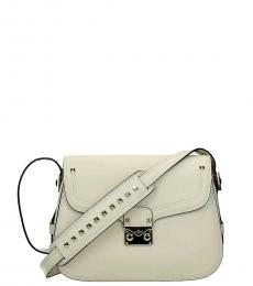 Valentino Garavani Beige Studded Strap Medium Crossbody