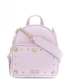 Versace Jeans Pink Studded Small Backpack