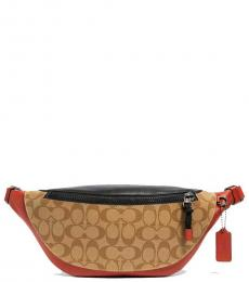Coach Tan Teracotta Crescent Fanny Waist Bag