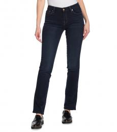 7 For All Mankind Dark Blue Kimmie Straight Leg Jeans
