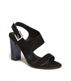 Black Carina Suede Heels