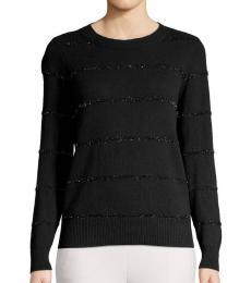 Michael Kors Black Striped Cotton Sweater