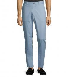 Chambray Slim-Fit Chino Pants