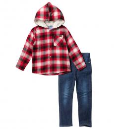 7 For All Mankind 2 Piece Jacket/Jeans Set (Little Boys)