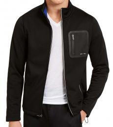 Michael Kors Black Tech Full-Zip Jacket