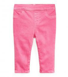 Baby Girls Pink Aubrie Denim Leggings