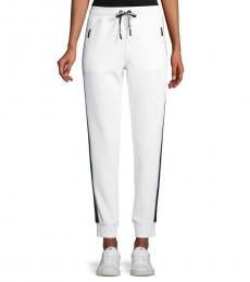 Karl Lagerfeld White Side Tape Jogger Pants