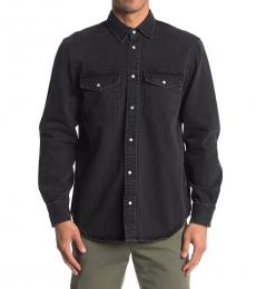 Diesel Black Rooke Denim Button Shirt