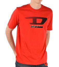 Diesel Orange Printed T-Just T-Shirt