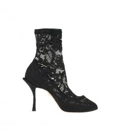 Black Lace Coco Sock Boots