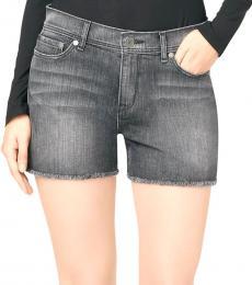 Black Wash Cutoff Shorts