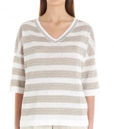 Brunello Cucinelli Multi color Lurex Stripes Sweater