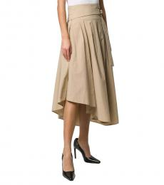 Brunello Cucinelli Beige Belted Skirt