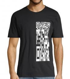 Black Graphic Cotton T-Shirt
