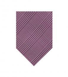 Calvin Klein Pink Glen Plaid Tie