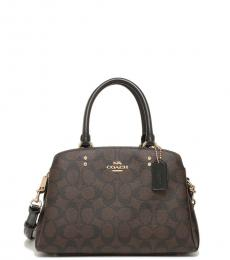 Coach Brown Black Lillie Small Satchel