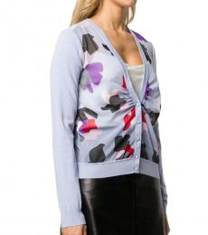 Emporio Armani Lilac Abstract Print Knit Jumper