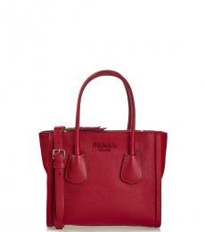 Prada Red Solid Small Satchel