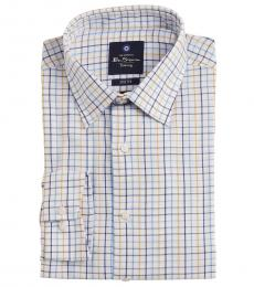 Ben Sherman White Check Dress Shirt