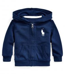 Ralph Lauren Baby Boys Newport Navy Big Pony Hoodie