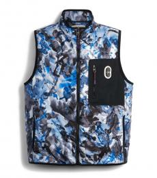 Blue Watercolor Camo Quilted Vest