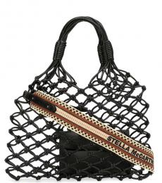 Black Knotted Medium Tote