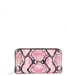 Stella McCartney Pink Logo Zip Around Wallet