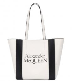 Alexander McQueen White Shopping Medium Tote