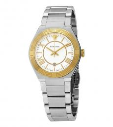 Versace Silver White Dial Watch