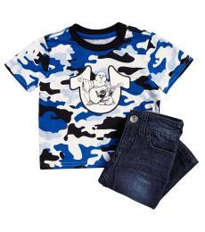True Religion 2 Piece T-Shirt/Jeans Set (Baby Boys)
