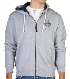 Hackett Grey Logo Zipper Jacket