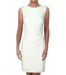 Ralph Lauren White Lace Inset Work Wear Dress