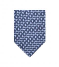 Blue-Light Blue Geometric Tie