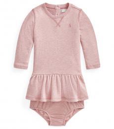 Ralph Lauren Baby Girls Pink Heather Terry Dress